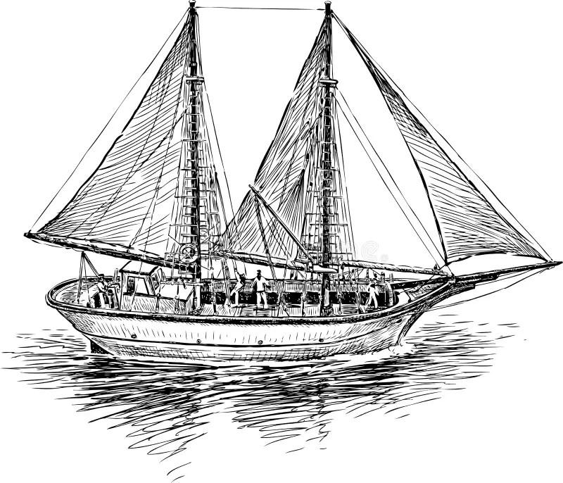 Greek fishing boat stock vector. Illustration of marine
