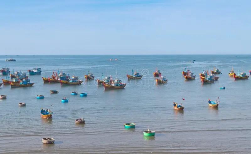 Fishing Village. Mui Ne. Vietnam Stock Image - Image of harbor. bamboo: 31636645