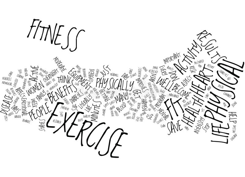 Fitness Can Save Your Life Word Cloud Concept Stock Vector