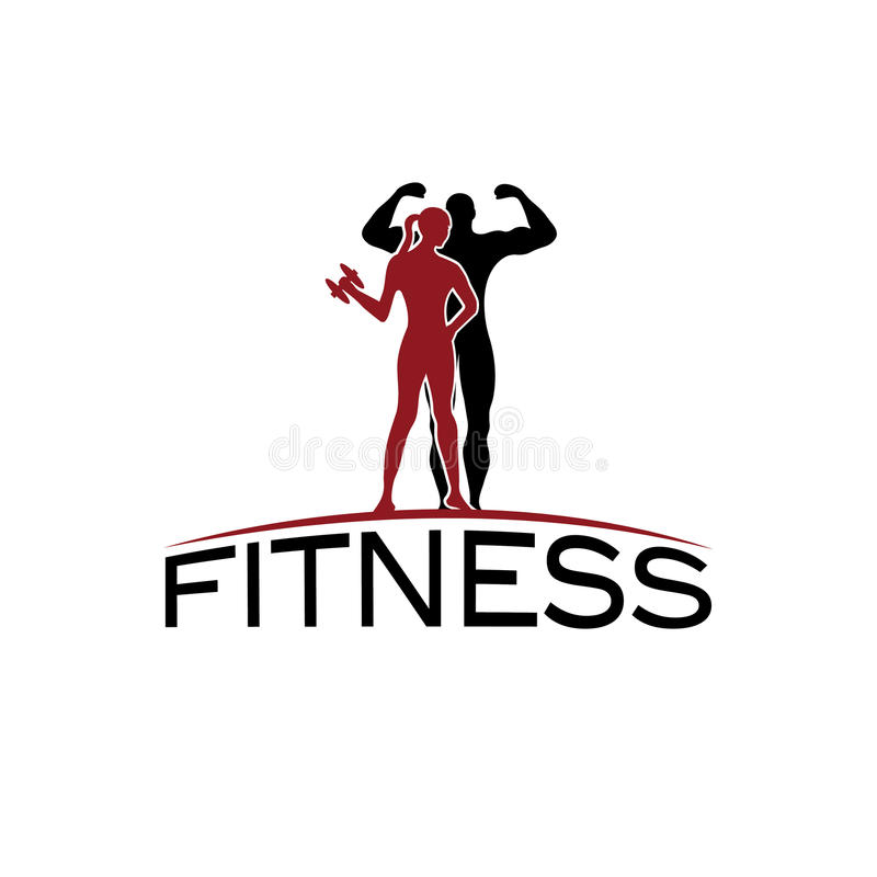 Fitness Silhouette Character Vector Design Temp Stock