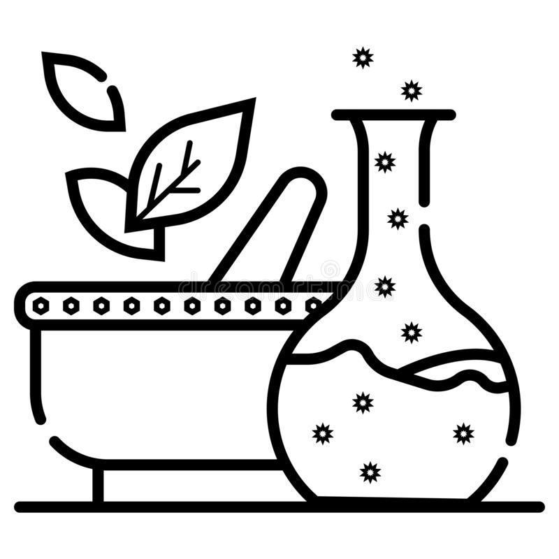 Beaker Flask Education Sign Vector Icon. Discovery Lab