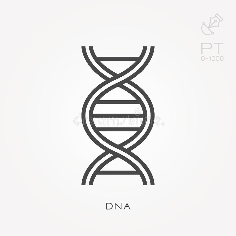 Vector DNA icons stock vector. Illustration of computer