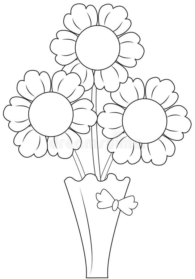 Flowers Vase Stock Illustrations