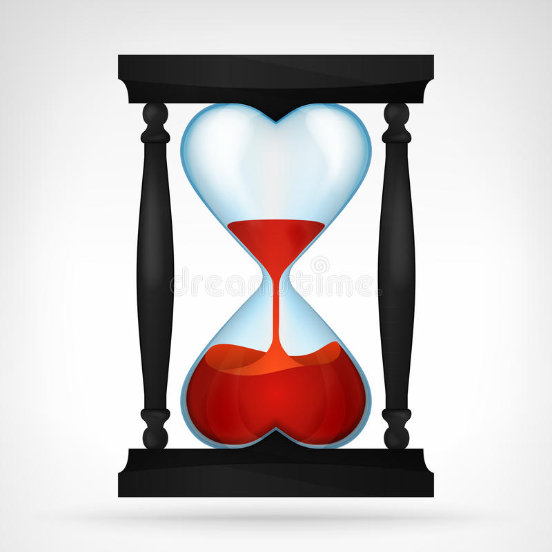 Blood Falling Wallpaper Flowing Red Love Liquid In Dual Heart Shaped Hourglass