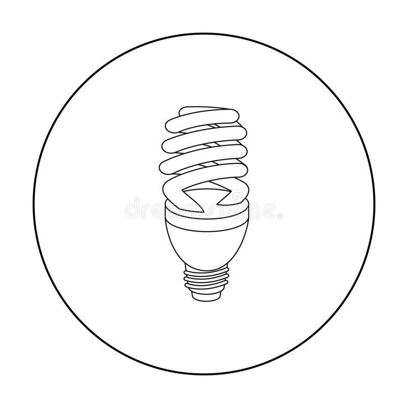 White Lightbulb Outline On White Stock Vector