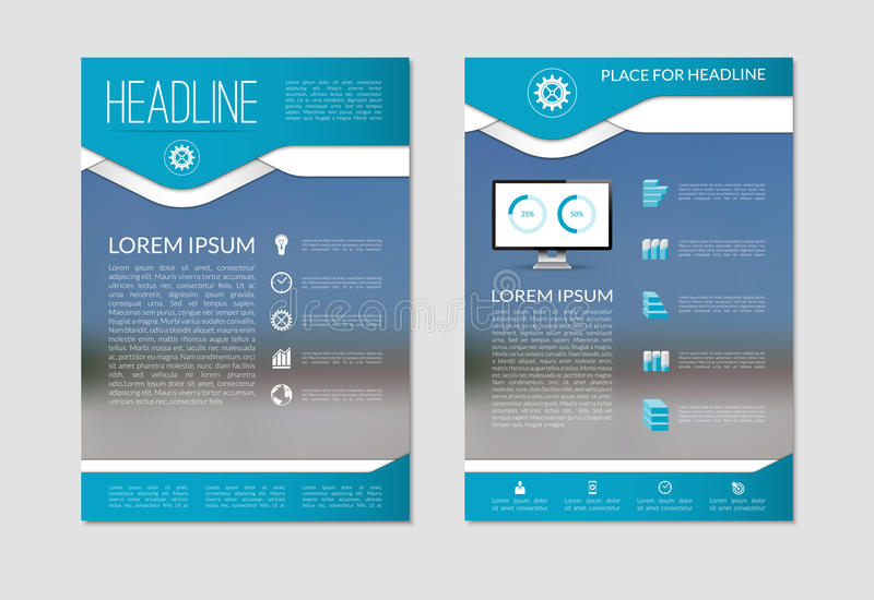 Flyer Brochure Design Layout Template With Blurred Background. A4 ...
