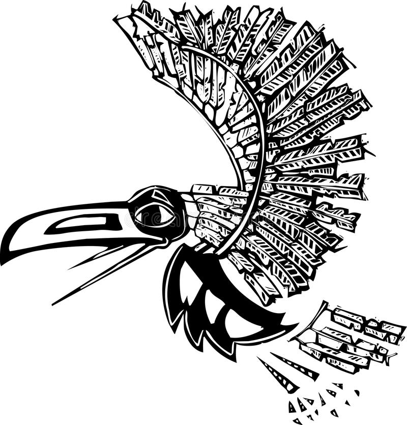 Lone Raven stock image. Image of silhouette, feather