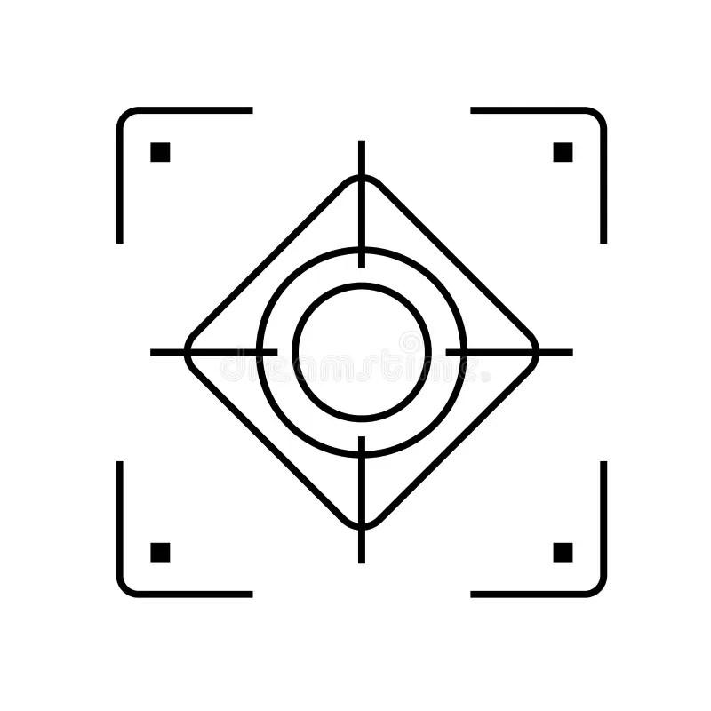 Camera focus rectangular stock vector. Illustration of
