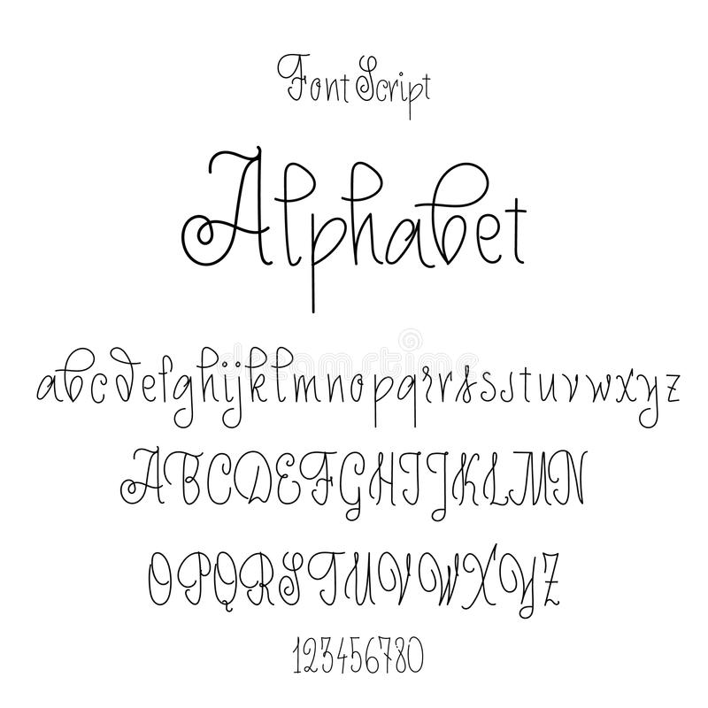 Font Drawn On The Basis Of Handwriting Calligraphy, Modern