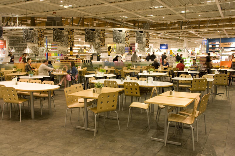 fast table chair dining 4 chairs set food court editorial image - image: 31200870