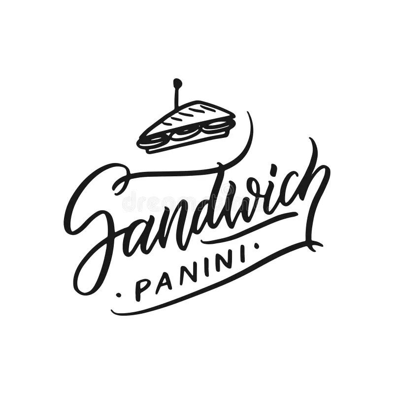 Food Logo Doodle Design Template Set. Stock Illustration