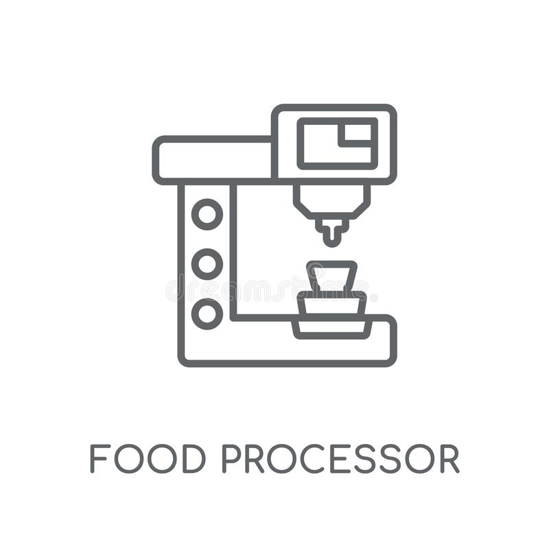 Food Processor Simple Icon Isolated. Household Appliance