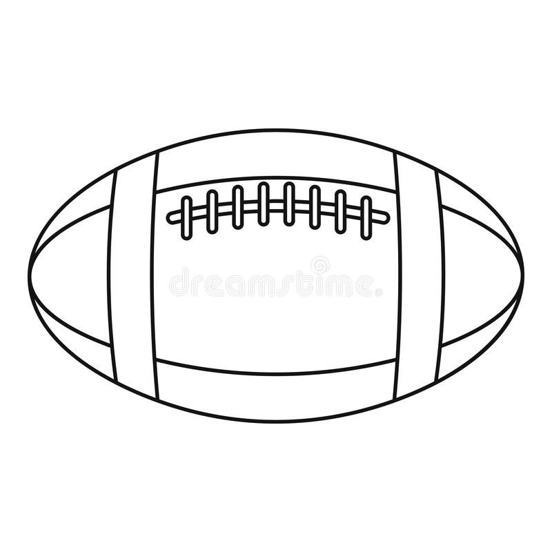 Football Or Rugby Ball Icon, Outline Style Stock Vector