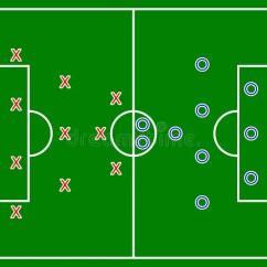 Football Pitch Diagram To Print 2003 Suzuki Hayabusa Wiring (soccer) Field Stock Illustration - Image: 42044372