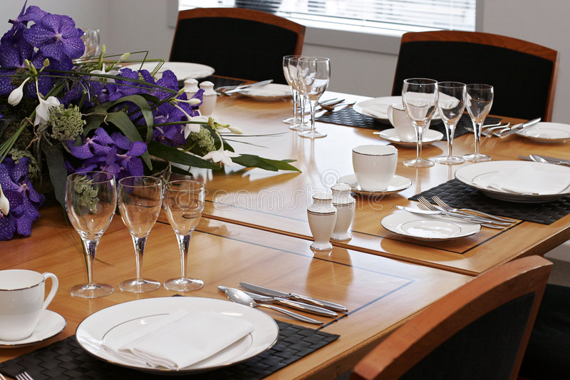 Formal Dining Table Set Up Stock Photo. Image Of Celbrate