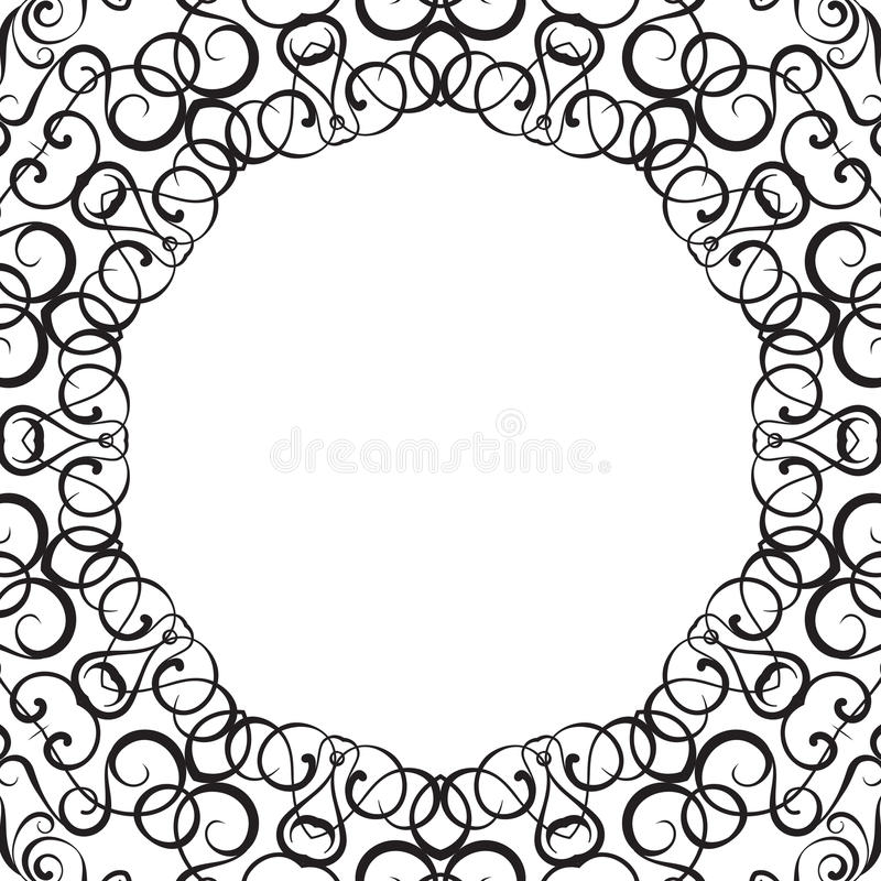 Formality Circular Devices Of Border Frames. Stock Vector