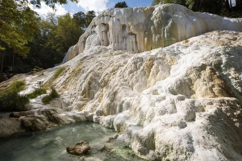 Fosso Bianco Hot Springs In Bagni San Filippo Stock Image  Image of italian architecture 55574153