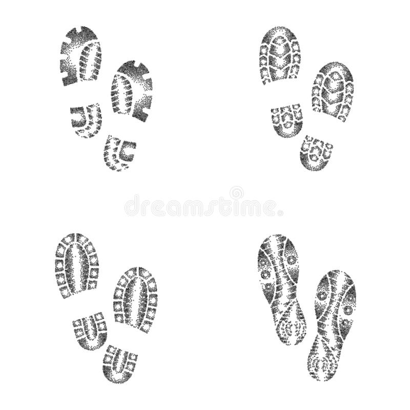 Print Running Shoe Stock Illustrations