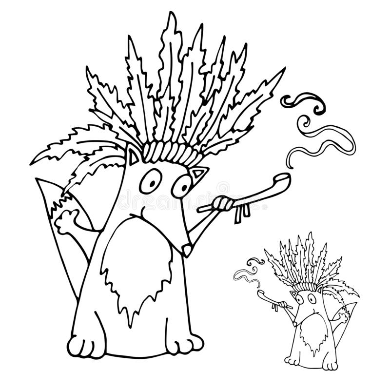 Indian Chief Mascot Cartoon Vector Logo Stock Vector