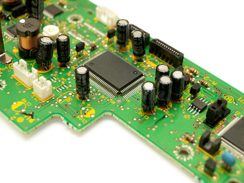 Circuit Board With Empty Slot For Microchip Stock Photo 13819264
