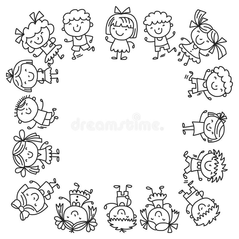Kindergarten Vector Seamless Pattern With Toys And Items