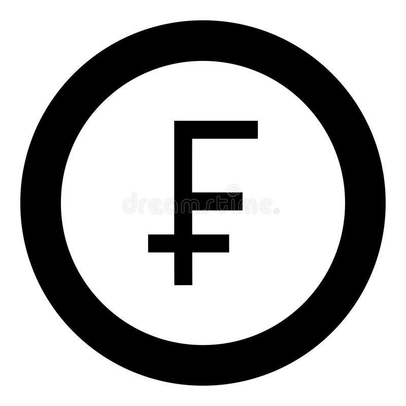 Franc Symbol Icon Black Color In Round Circle Stock Vector - Illustration of isolated. business: 124483475