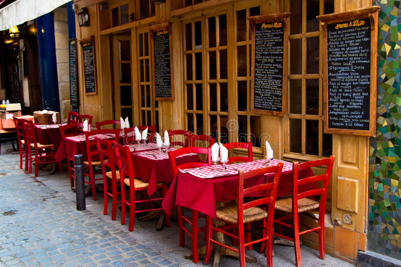 French restaurant stock image Image of europe glass