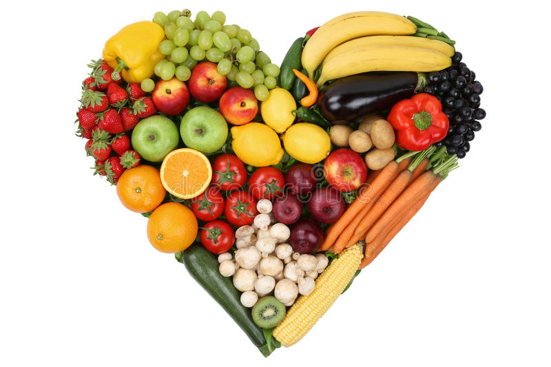 Fruits And Vegetables Forming Heart Love Topic And Healthy ...