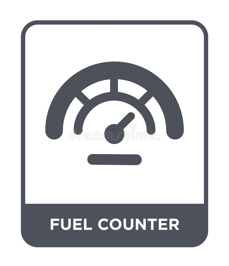 Fuel Counter Icon In Trendy Design Style. Fuel Counter