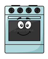 Fun Kitchen Appliance - A Happy Oven Stock Image - Image ...