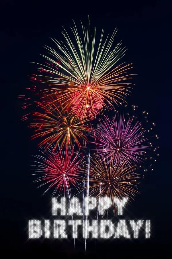 Fuochi D'artificio Di Buon Compleanno Immagine Stock