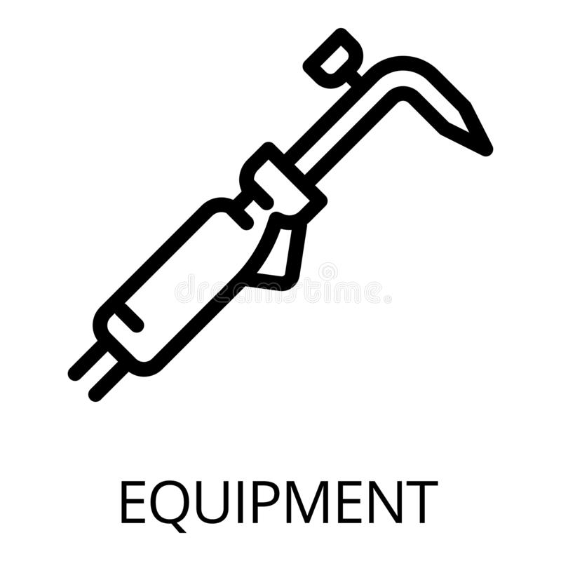 Gas welding equipment stock vector. Illustration of