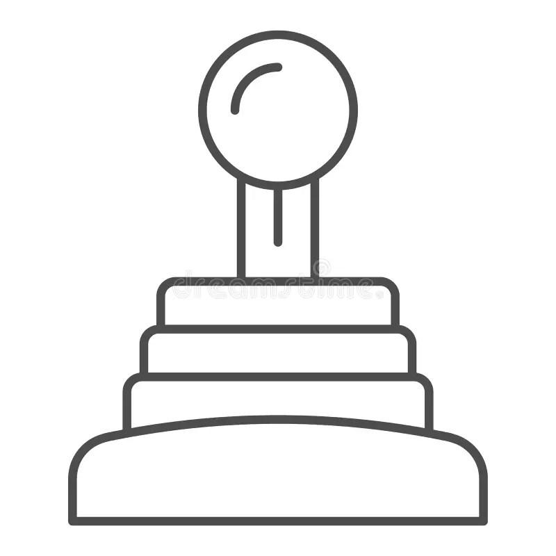 Manual Saw Thin Line Icon. Blade Vector Illustration