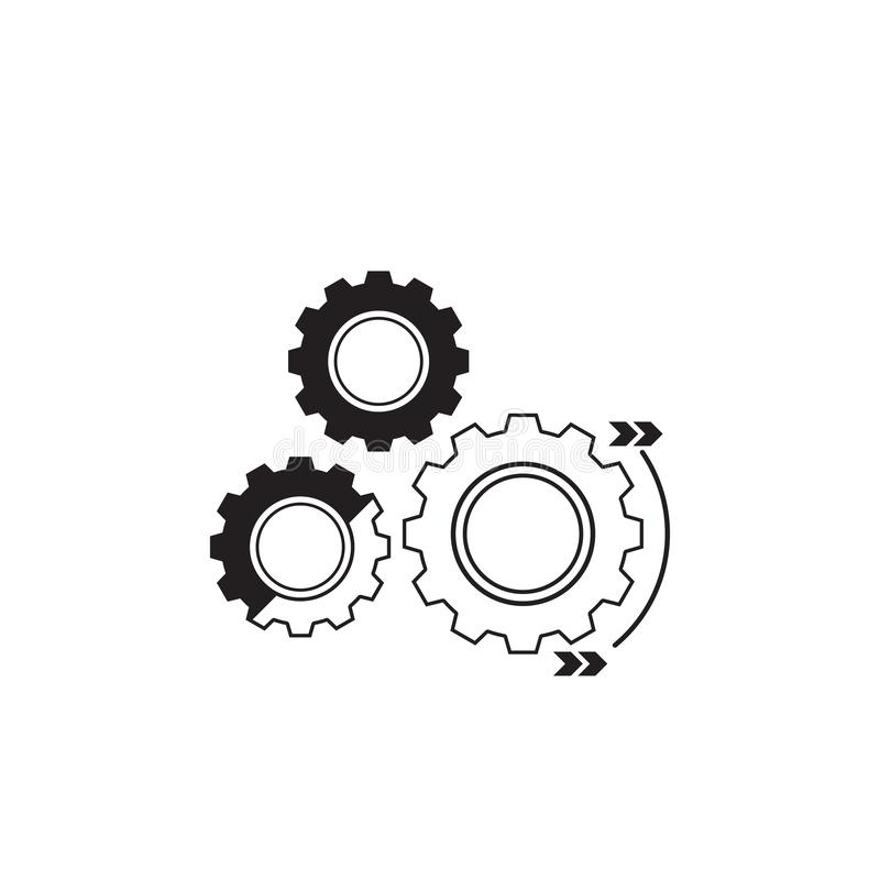 Mechanics Engineering Logo Concept, Wrench And Gear Wheel