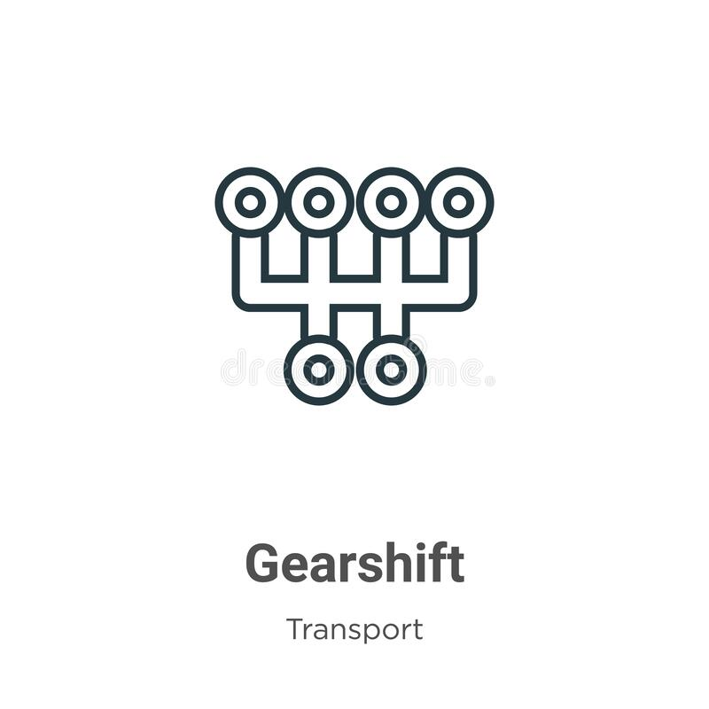 Gearshift Icon. Premium Quality Element Illustration From
