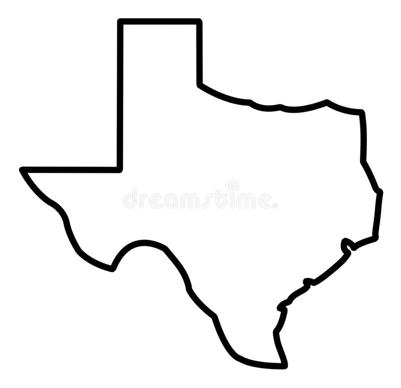 General Map of Texas stock illustration. Illustration of