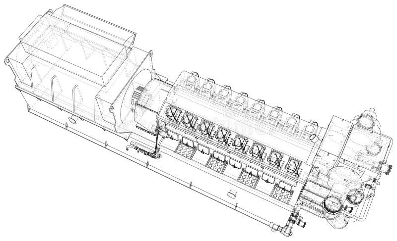 Generator. Diesel And Gas Industrial Electric Generator