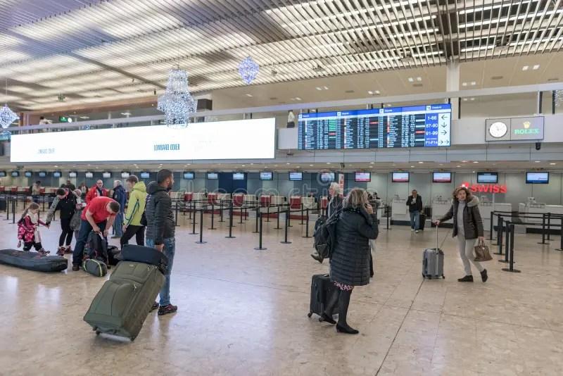 GENEVA. SWITZERLAND - JANUARY 16. 2018: Geneva International Airport IN Switzerland. Editorial Image - Image of 2018. airplane: 134516330