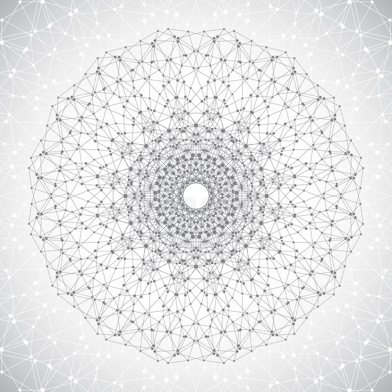 Lattice Sphere. Concept Of Molecule. Abstract Background