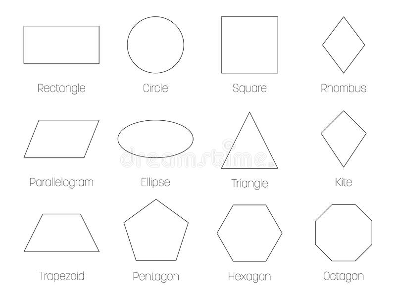 Shapes Basic Stock Illustrations