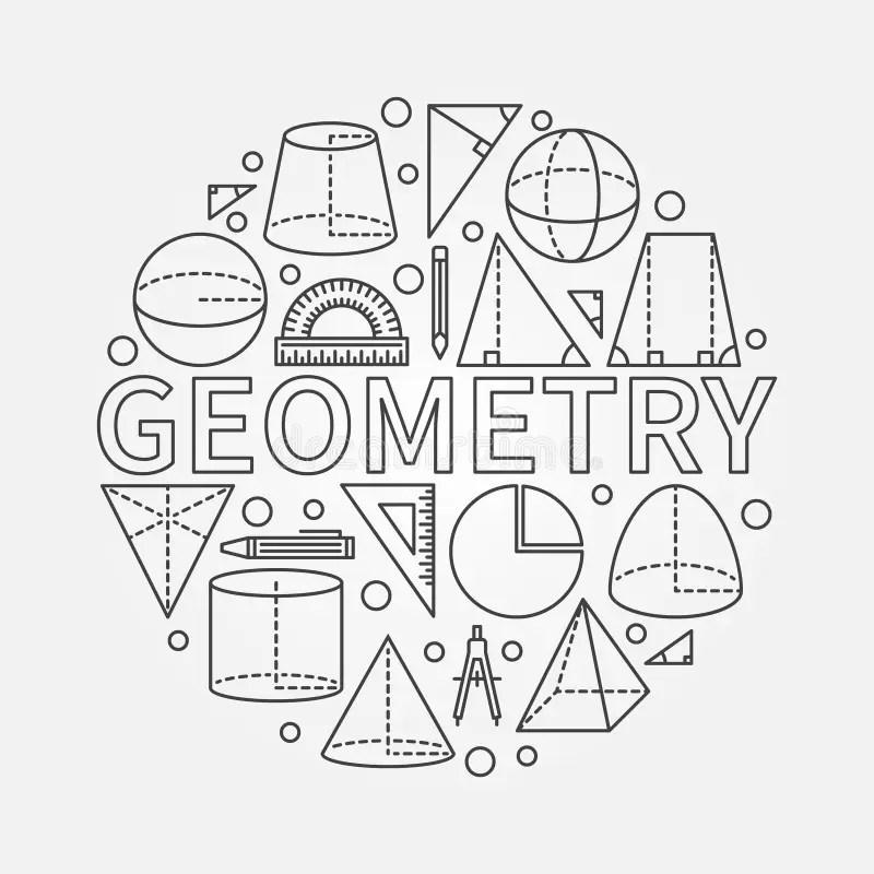 Geometry round symbol stock vector. Illustration of