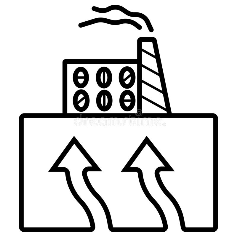 Geothermal Energy. Vector Graphic Stock Vector