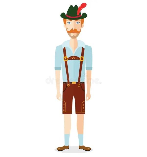 Oktoberfest Man. Cartoon Illustration. Stock Vector
