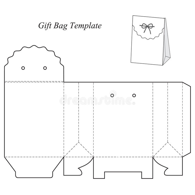 Gift box template with lid stock vector. Illustration of