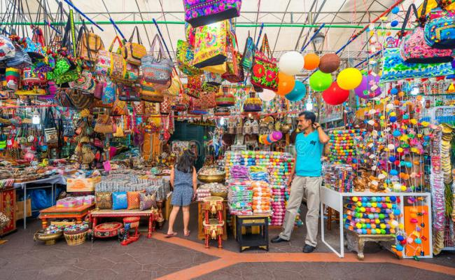 Gift Shops At Little India Singapore Editorial Image