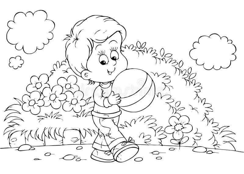 Gioco del ragazzo illustrazione di stock. Illustrazione di