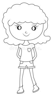 girl with curly hair coloring