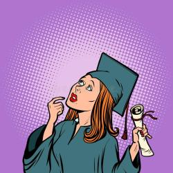 student college university thought graduate comic preview education
