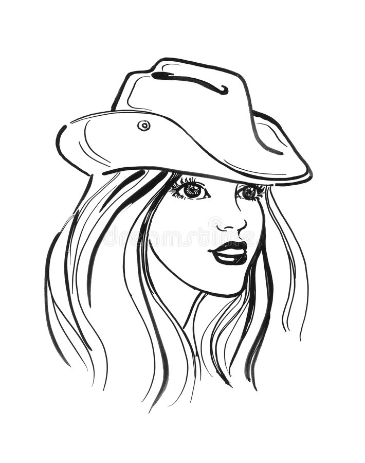 Business woman sketch stock illustration. Illustration of