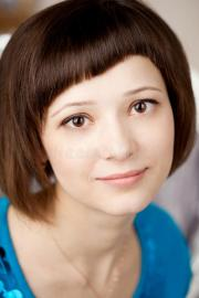 girl with short hair stock